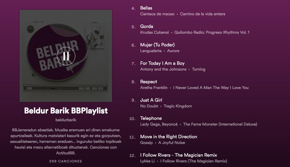 Imagen de la Música de la lista en Spotify