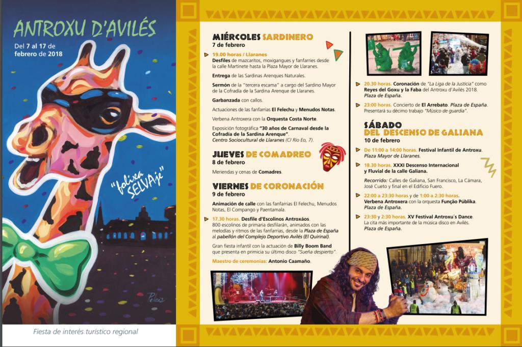 folleto del antroxu de Áviles dedicado a África