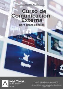 Cartel de Magma del curso comunicación externa