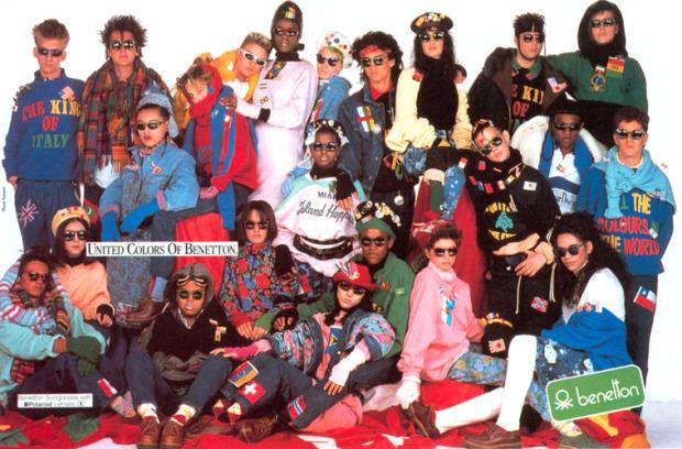 Publicidad de la Campaña de Benetton de 1984