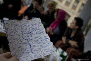 """Imagen de la puesta en común del taller """"ecofeminismo"""""""